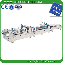 2 yrs warranty UFG1650E Automatic Corrugated Box Folding and Gluing Machine Carton Forming Machine