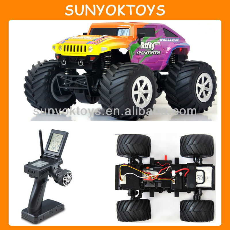 1/24 Hobby Grade Mini Big Foot Off Road Hummer 4WD 2.4G RTR RC Car Truck Jeep