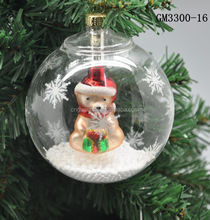 HOT Christmas glass hanging decorations China