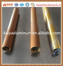 Factory bulk sell price wood color aluminum curtain rod