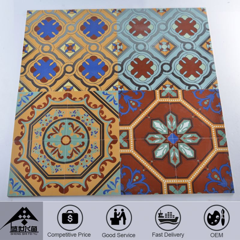 Hotsale Professional Fashion Design Custom Printing Direct Price Tile Floor Octagonal