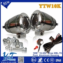 Y&T Most power,led round 10W work lamp ,light for ATV UTV 2INCH,autobike red led back lamp