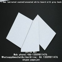 White Back Paper Board Cover 1000gsm Book Binding Cardboard uncoated white paperboard in sheet