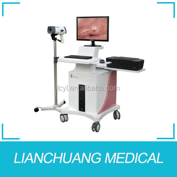 Computer-integrated digital CCD camera electronic video colposcope/colposcopy
