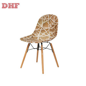Colored Leisure Armless Modern French Style Stackable Cafe Dining Room Chair
