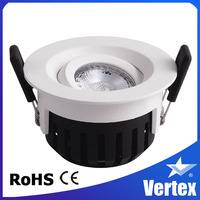 Super bright indoor cob 8w led downlight for library/subway/shops