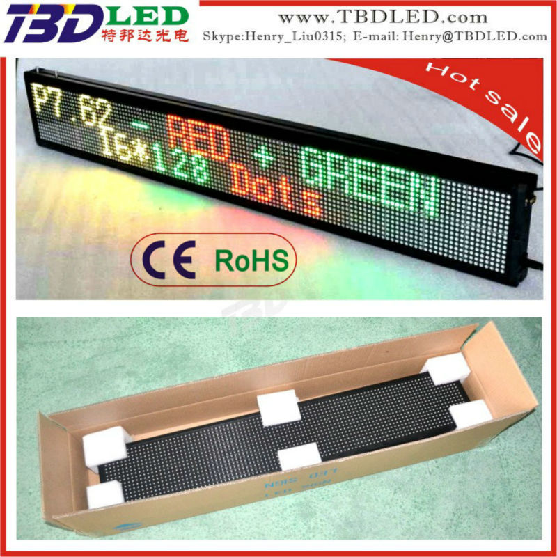 led scrolling message signs,indoor full color/three color led car message sign board,led running message display sig