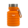 Orange Collapsible Silicone  Water Bottle