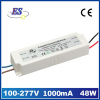 48W 1A 220V to 48V AC DC Constant Current LED Driver Power Supply