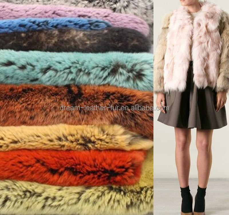 rex rabbit fur pelts in solid dyed color