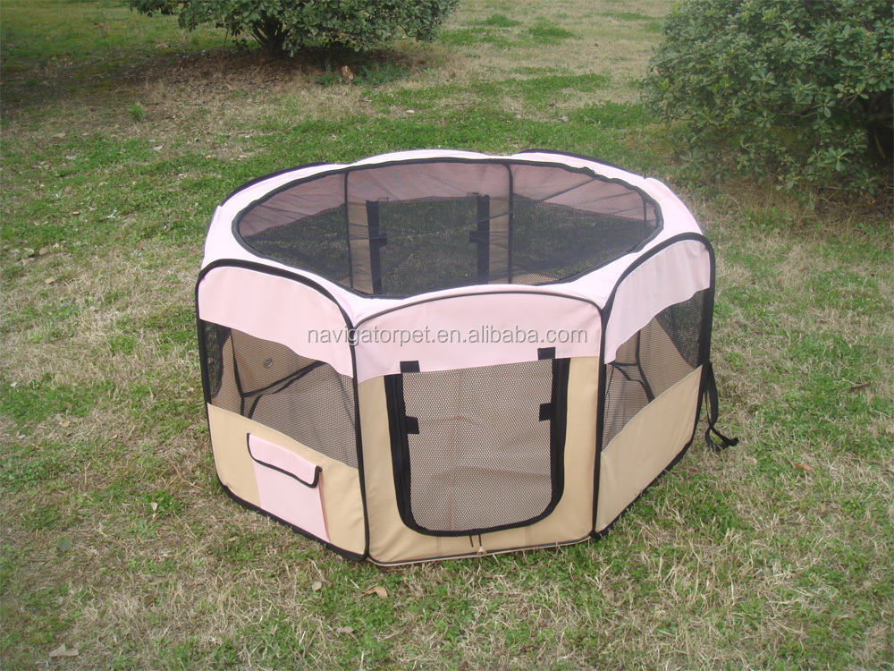 Folding Dog Tent with Eight Panels