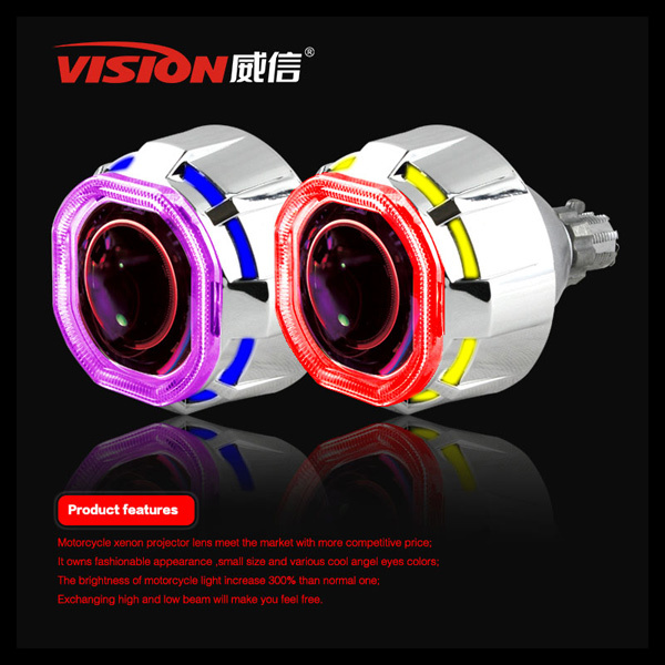 Car hid bi-xenon projector lens with angel eyes for universal car headlight