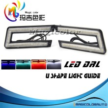 Factory Supply New Arrival Universal Fit U Shape Light Guide LED DRL Daytime Running Light
