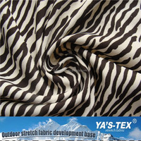 Prismatic Jacquard Polyester Stretch Zebra Stripe Pattern Fabric