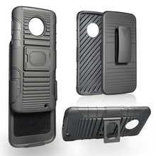 Hot sale in Mexico 3 in 1 tpu pc armor holster funda accesorios case for motorola moto G6 plus