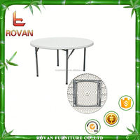 plastic round table with folding leg plastic round table