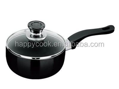 18cm black nonstick cooking pots and pans