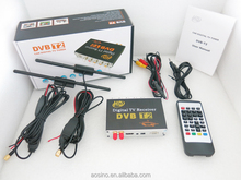 Hot sale newest high quality high speed 180km/h HD Car Digital TV BOX DVB-T2 TV receiver with Dual tuner dual antenna