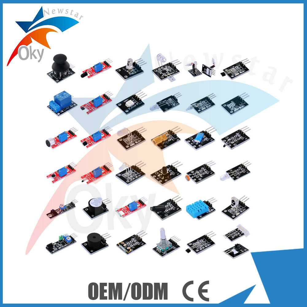 37 in 1 Sensor Module Shield Starter Kit DIY electronic components for Arduno