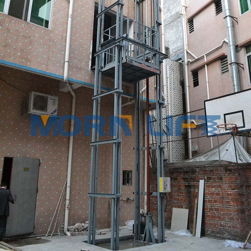 Outdoor hydraulic fixed lift platform elevator drawing