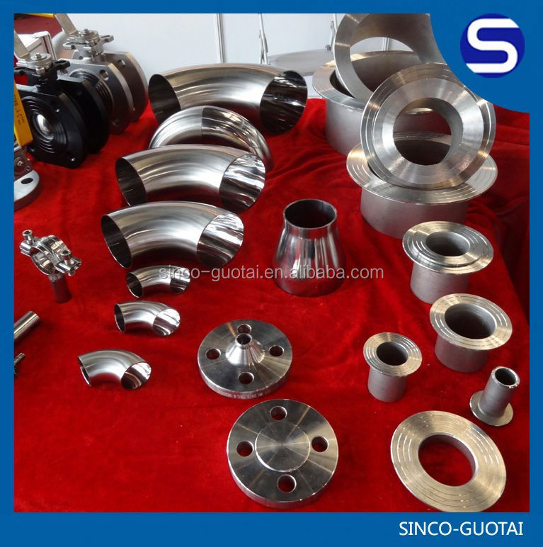 stainless steel welding pipe fitting dimension