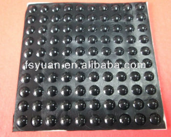 black adhesive rubber bumpons/ silicone bumpons with 3M tape with high quality