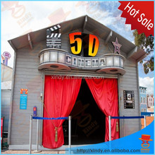 2015 6 dof hydraulic system and electric system 3d,4d,5d,6d,7d,9d,12d simulator mobile cinema equipment