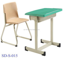 SD-S-015 Combo Plastic Primary School Kids Study Table And Chair Supplier In China