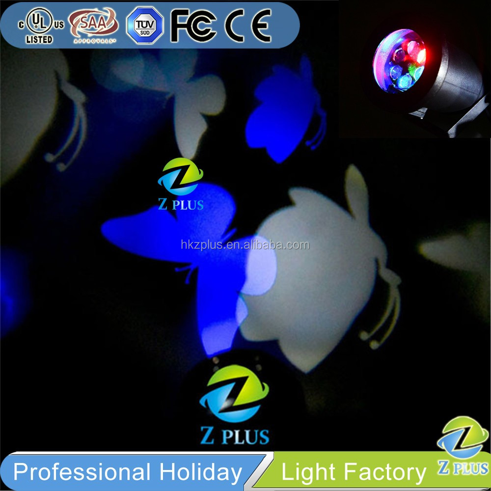 Outdoor waterproof LED Rotating Butterfly blue christmas lights