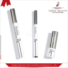 Empty 9ml /1.5ml gun grey and matte silver lipstick container/liquid eyeliner pen bottle/mascara tube cosmetic packaging