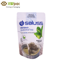 Custom Printed Stand Up Aluminum Foil Tea Packaging Empty Tea Bags For Loose Leaf Tea