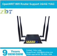 ZBT-WE826 openwrt 3g gsm 4g lte wireless wifi hospot modem router with sim card slot