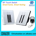 Hot selling 10A wall led light switchplate/British smart home light switch OEM/ODM smart home touch light wallswitch