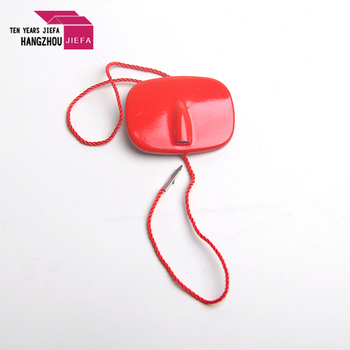 Red color hot sale fashion style plastic tag/seal tag string for garment