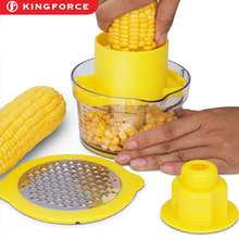 New Arrival Fruit vegetable tools Plastic Manual Corn Stripper Corn Peeler With Container KF510072