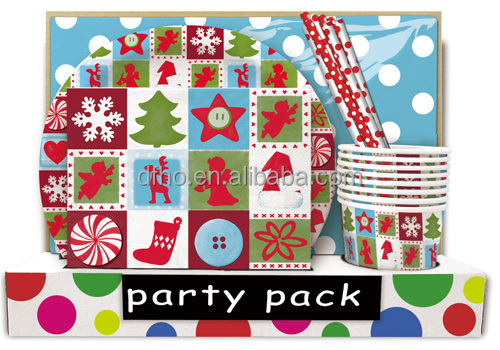 party city trending hot products napkins with straws party set for Christmas party