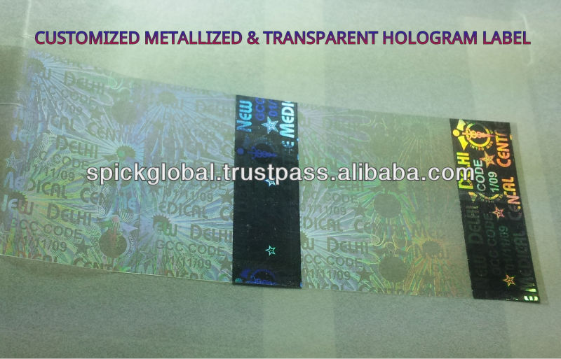 Customized anti fake holographic labels,stamping foils