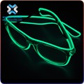 Hot sales christmas New Wholesale Led Flash Party Wear Half Frame EL Wire Glasses Sunglasses led light sunglasses