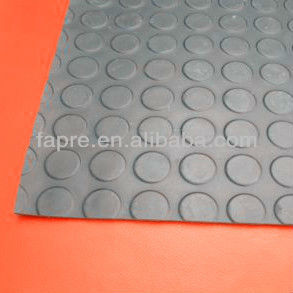 F-M-159 Flame-retardant Anti-slip Water-oil-proof Antistatic Coin -style Rubber Floor Mat