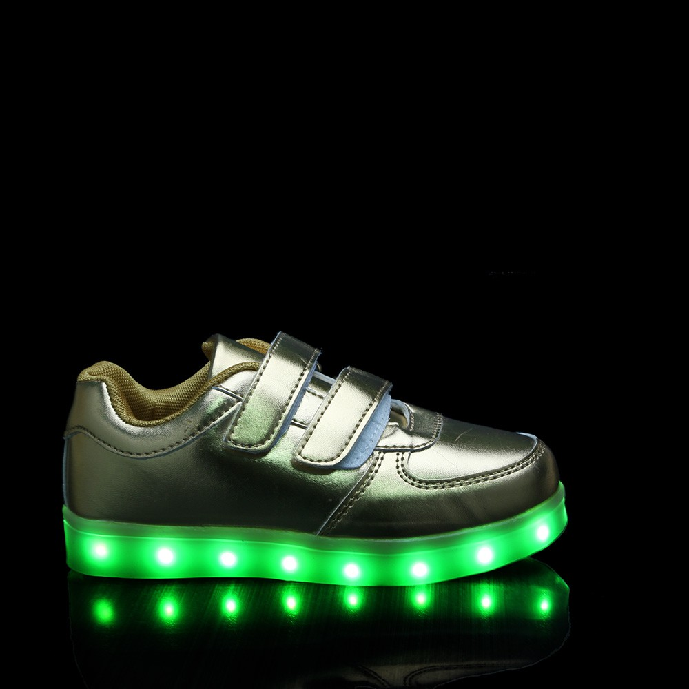 HC-SK70MG 2016 new design shiny PU water proof girl shoes with led light