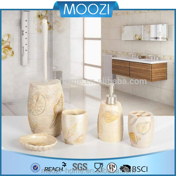 fancy sea shell bathroom set,wholesale bath accessories,soap