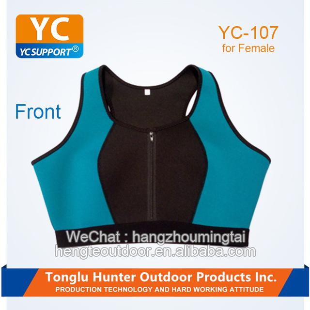 Sample order wholesale stretch black women body shaper neoprene slimming vest