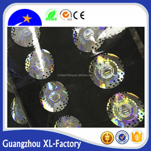 Washing Aluminum Hot stamping hologram film label transparent background,metallic clear sticker labels