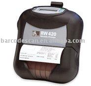 Direct thermal mobile printer zebra RW 420 barcode label printer