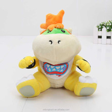 "New Super Mario Bros 7"" Bowser JR soft Plush Stuffed Figure Toys opp Retail plush toy Bowser baby"