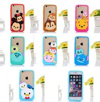 2015 New 3D Cartoon animals monster bear mouse/stitch/squirrel soft silicone Bumper case For iphone5 5s/6 4.7inch/6 plus 5.5inch