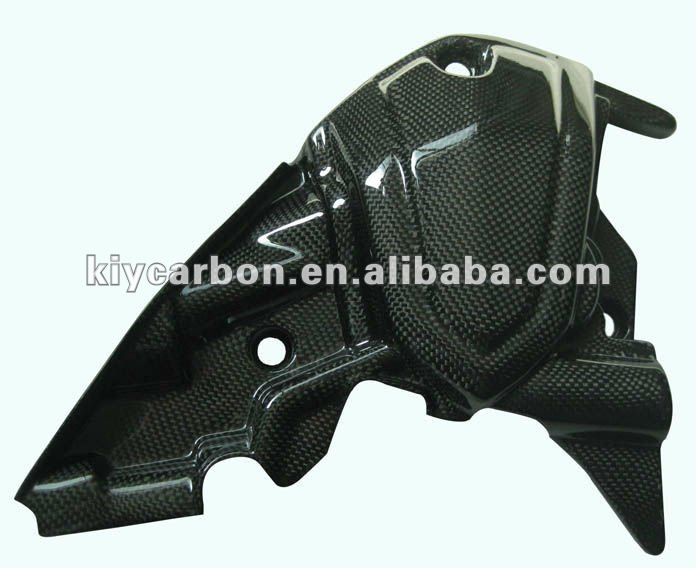 Carbon fiber motorcycle engine cover