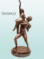 naked woman and man dance statue hot