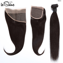 Wholesale Silky Straight 100% Brazilian Remy Virgin Human Hair Extension Lace Closure Frontal 360 Lace Band
