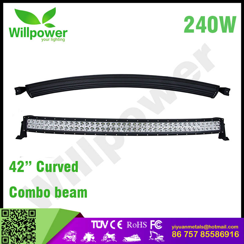 "Wholesale 42"" 42 inch led light bars 240w combo security light bar great motorcycle parking light"